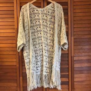 American Eagle light knit throw sweater medium